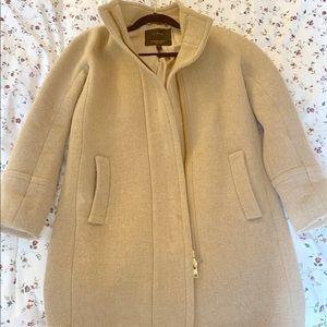 J. Crew Classic Cocoon Coat - Size 00 Petite